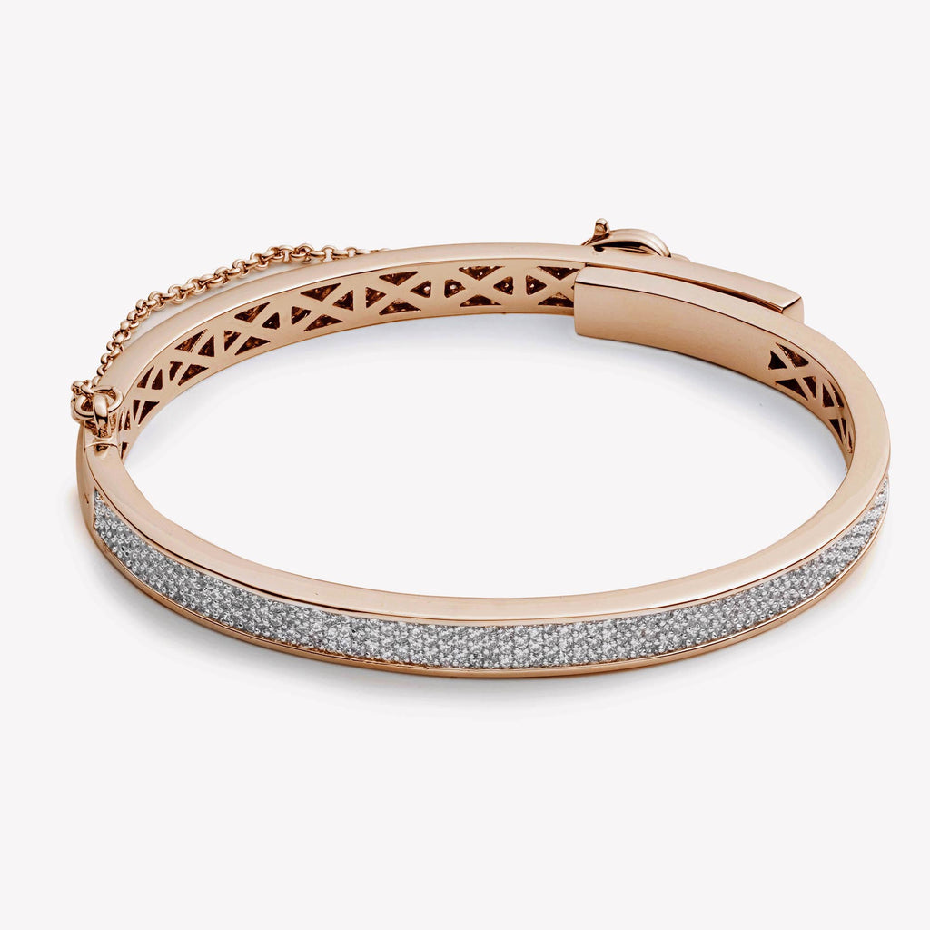 PAVÈ THIN SAFETY CHAIN BRACELET