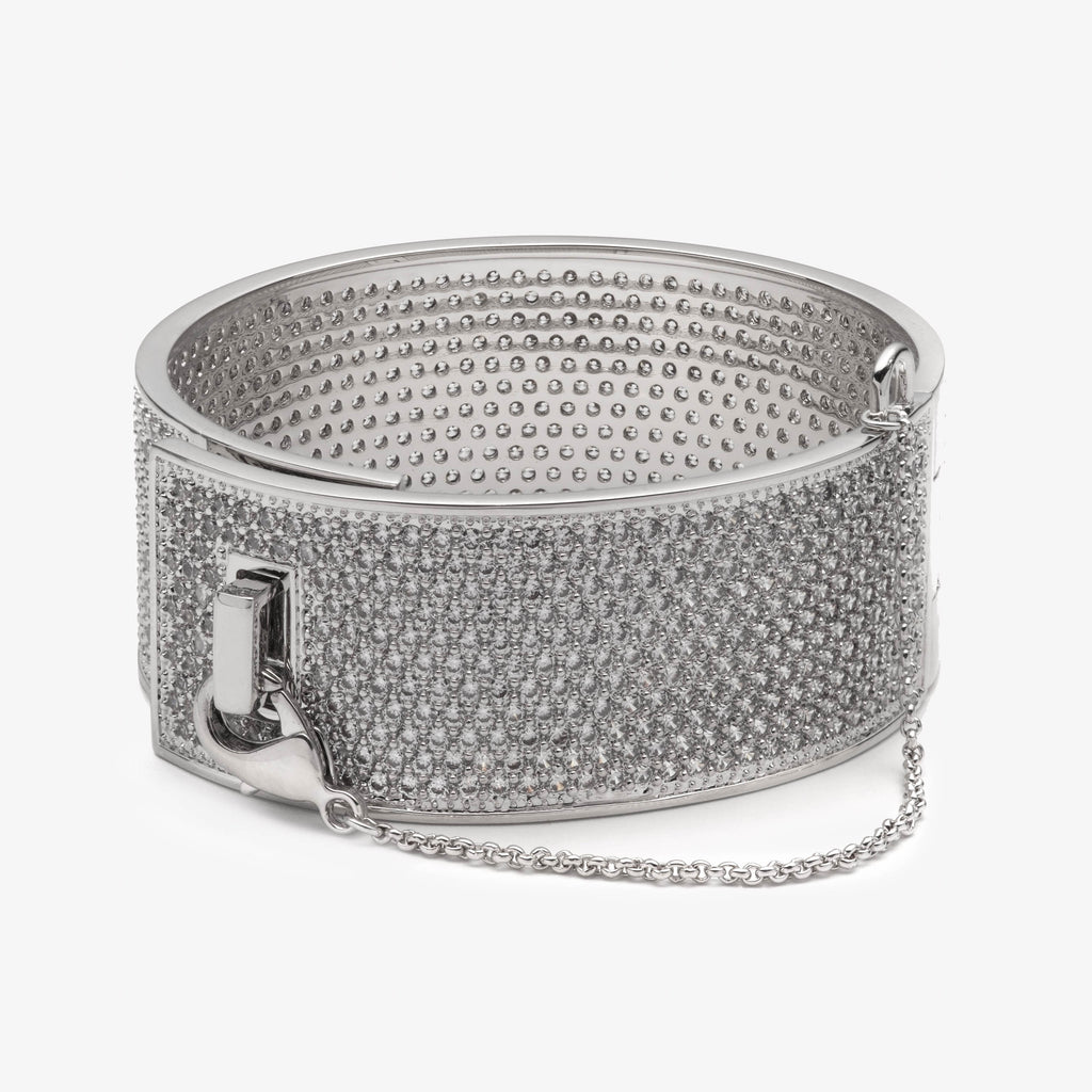 PAVÉ SAFETY CHAIN CUFF