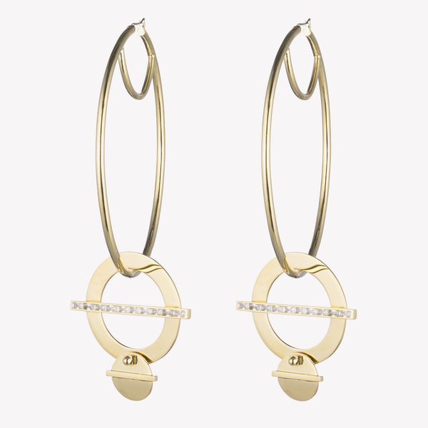 CROSSBAR HOOP EARRINGS