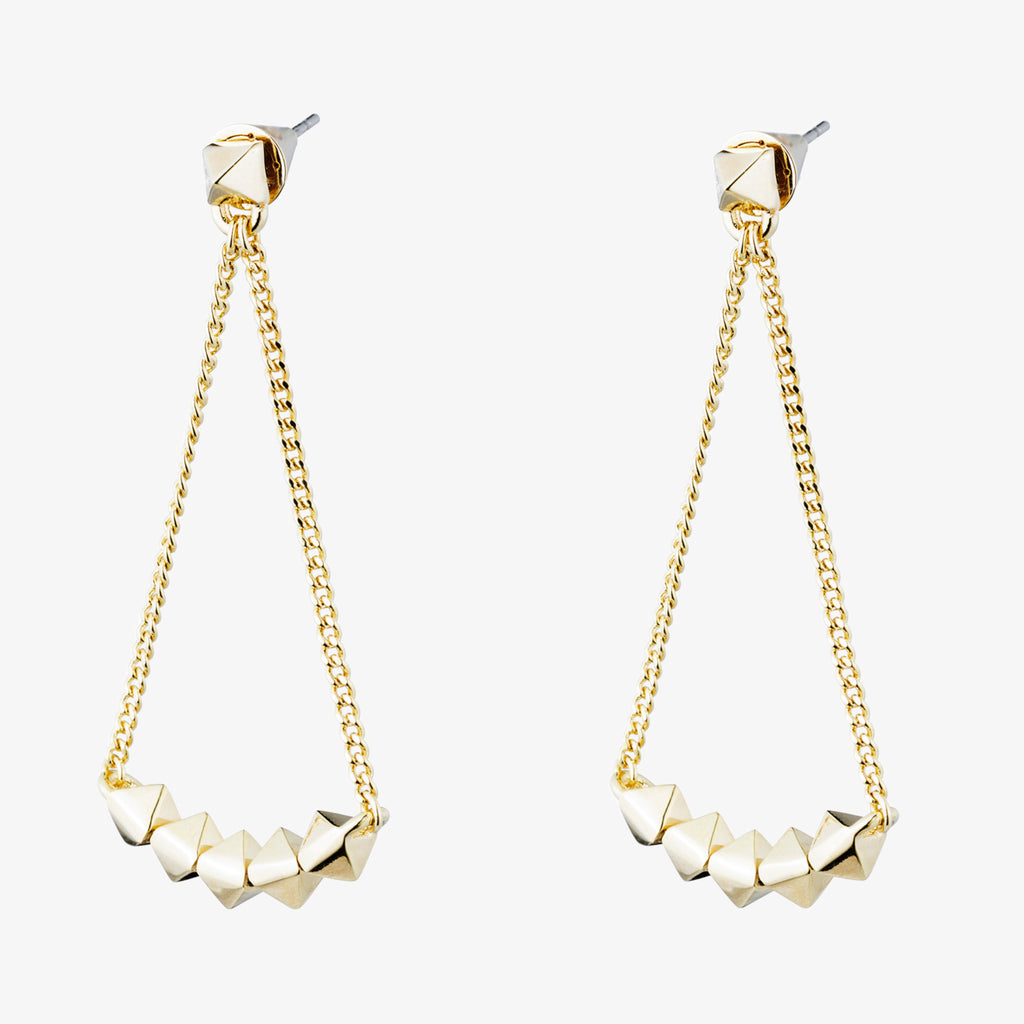 PYRAMID LINK EARRINGS