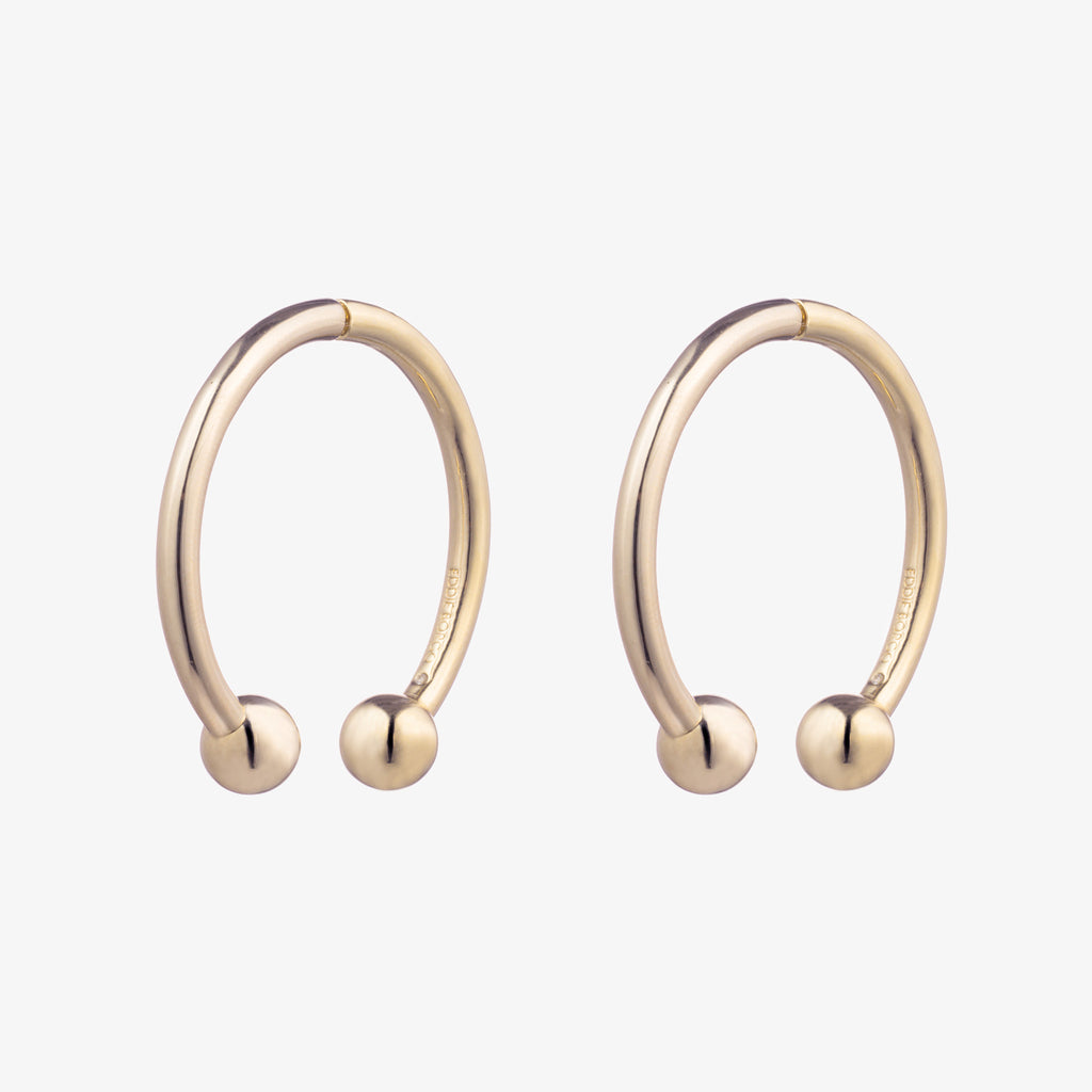 BARBELL HOOP EARRINGS