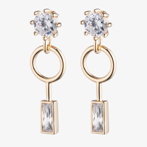 BAGUETTE ESTATE DROP EARRINGS