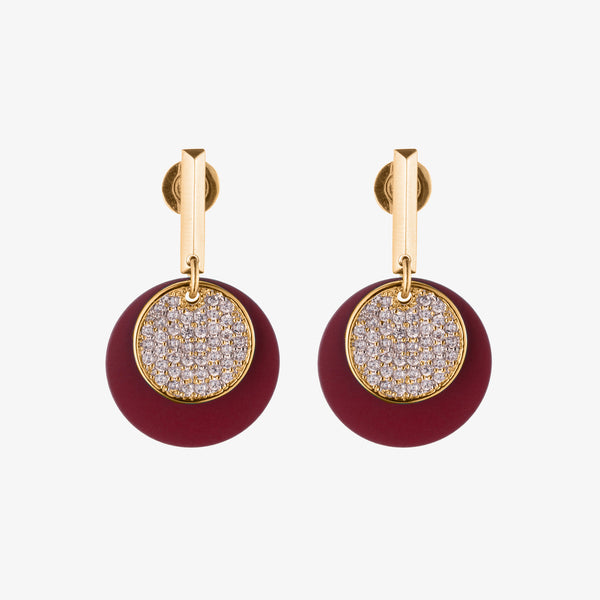 PAVÉ PAILLETTE DROP EARRINGS