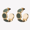 INLAID ROUND HOOPS - JADE