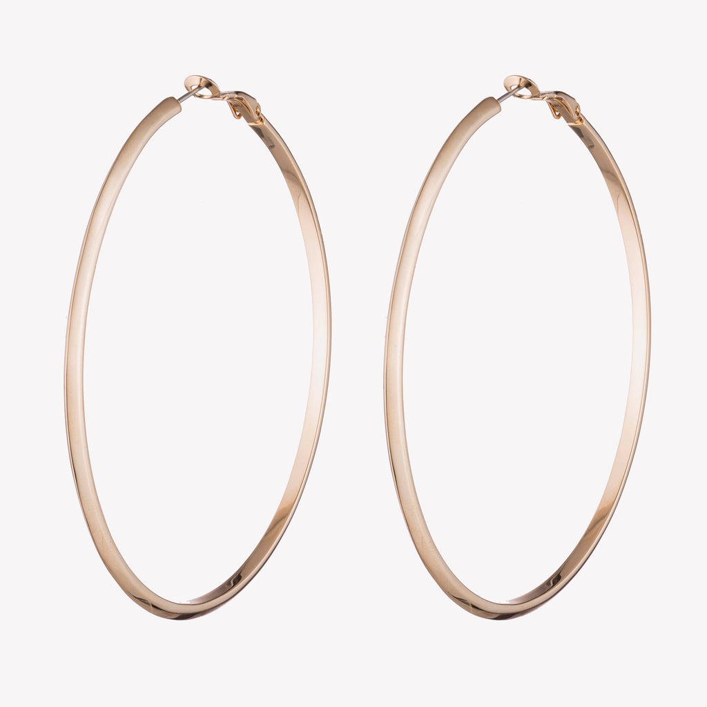 PEAKED HOOP EARRINGS  |  2.75""