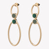 INLAID OPEN OVAL EARRINGS