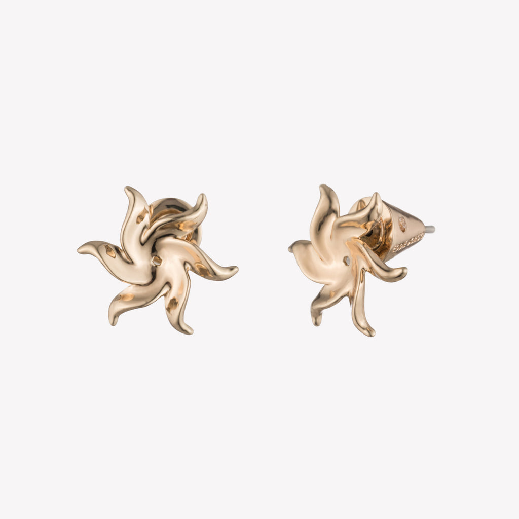 SMALL POINSETTIA STUD EARRINGS