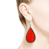 TEARDROP EARRINGS | CORAL