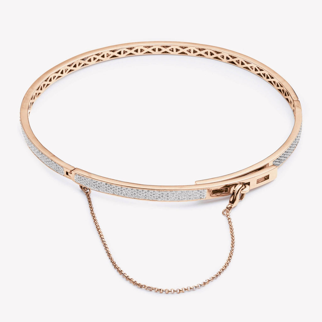 THIN PAVÉ SAFETY CHAIN CHOKER