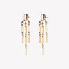 PEAKED LINK FRINGE EARRINGS