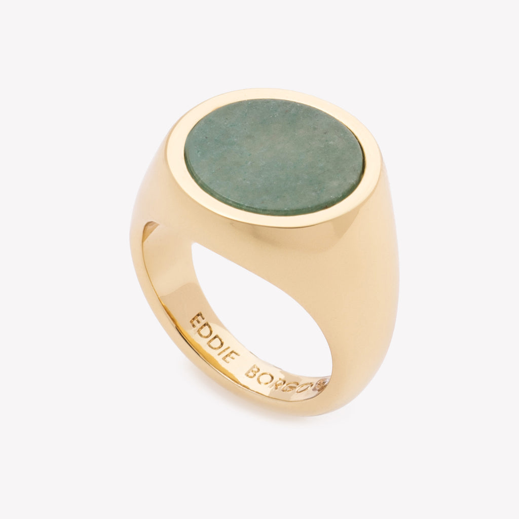 INLAID SIGNET RING - JADE