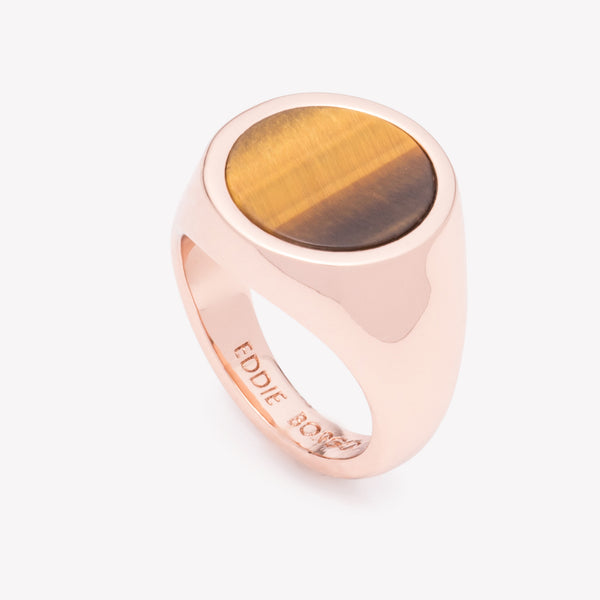 INLAID SIGNET RING - TIGER EYE