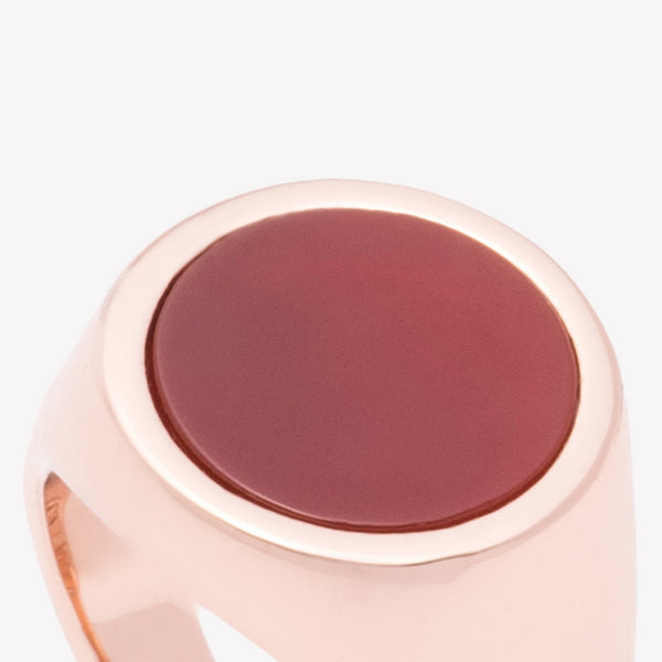 INLAID SIGNET RING - CARNELIAN