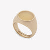 INLAID SIGNET RING - ARAGONITE