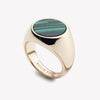 INLAID SIGNET RING - MALACHITE