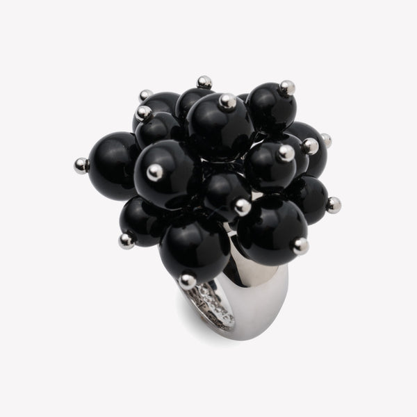 BEADED SPHERE RING