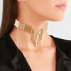 TWILL BAGUETTE COLLAR | BLUSH VELVET