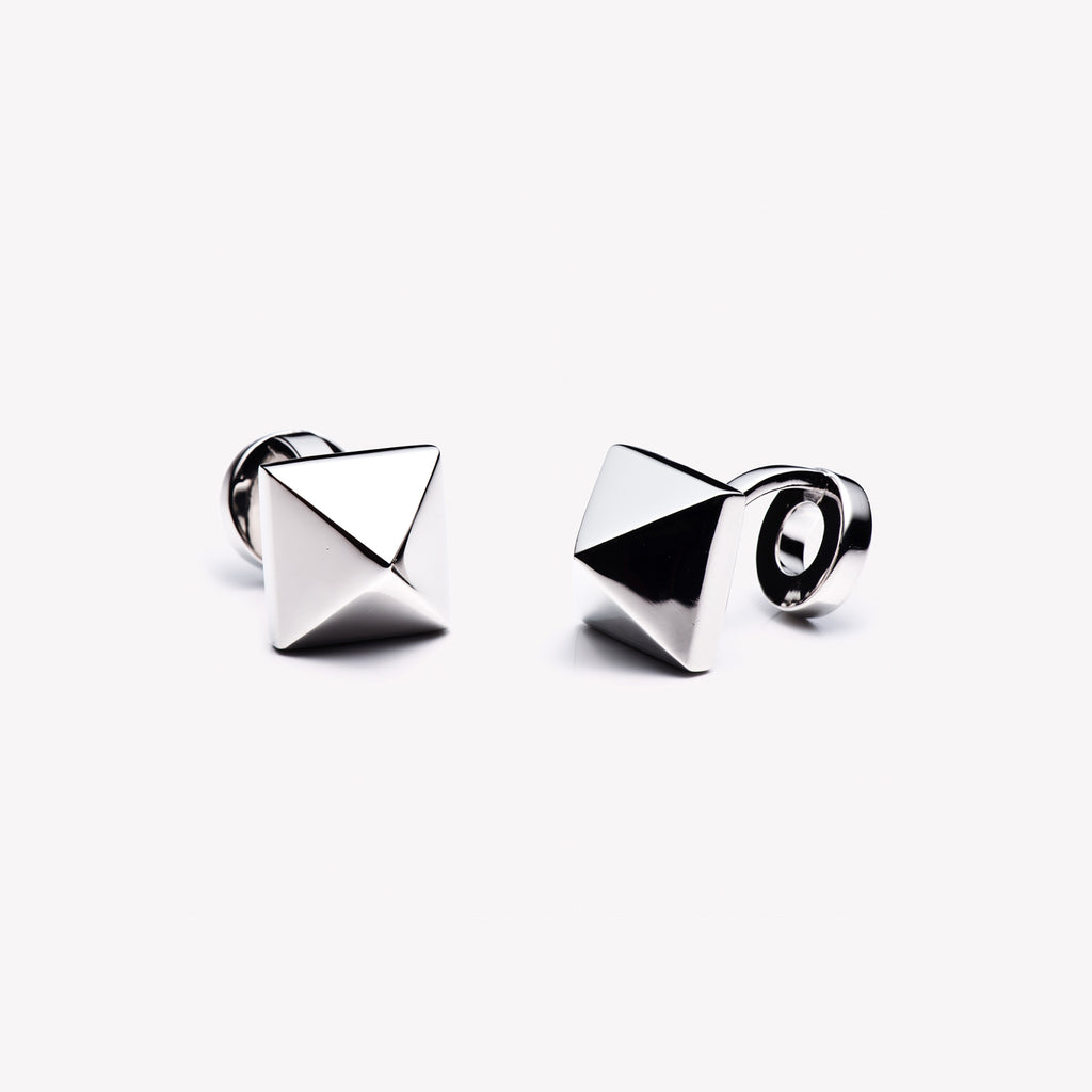 MENS PYRAMID CUFFLINKS