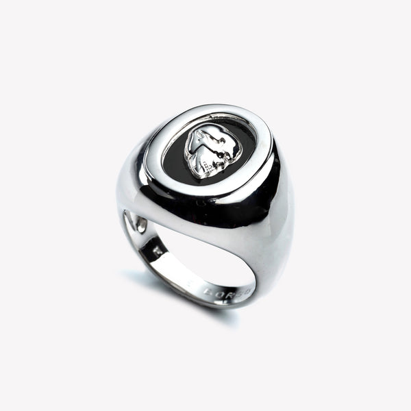 MENS SKULL CAMEO RING
