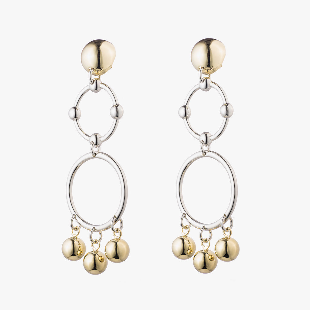 BARBELL CHANDELIER EARRINGS
