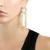 PINNED PAILLETTE DROP EARRINGS