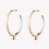 OVERLAY HOOP EARRINGS | TWO TONE