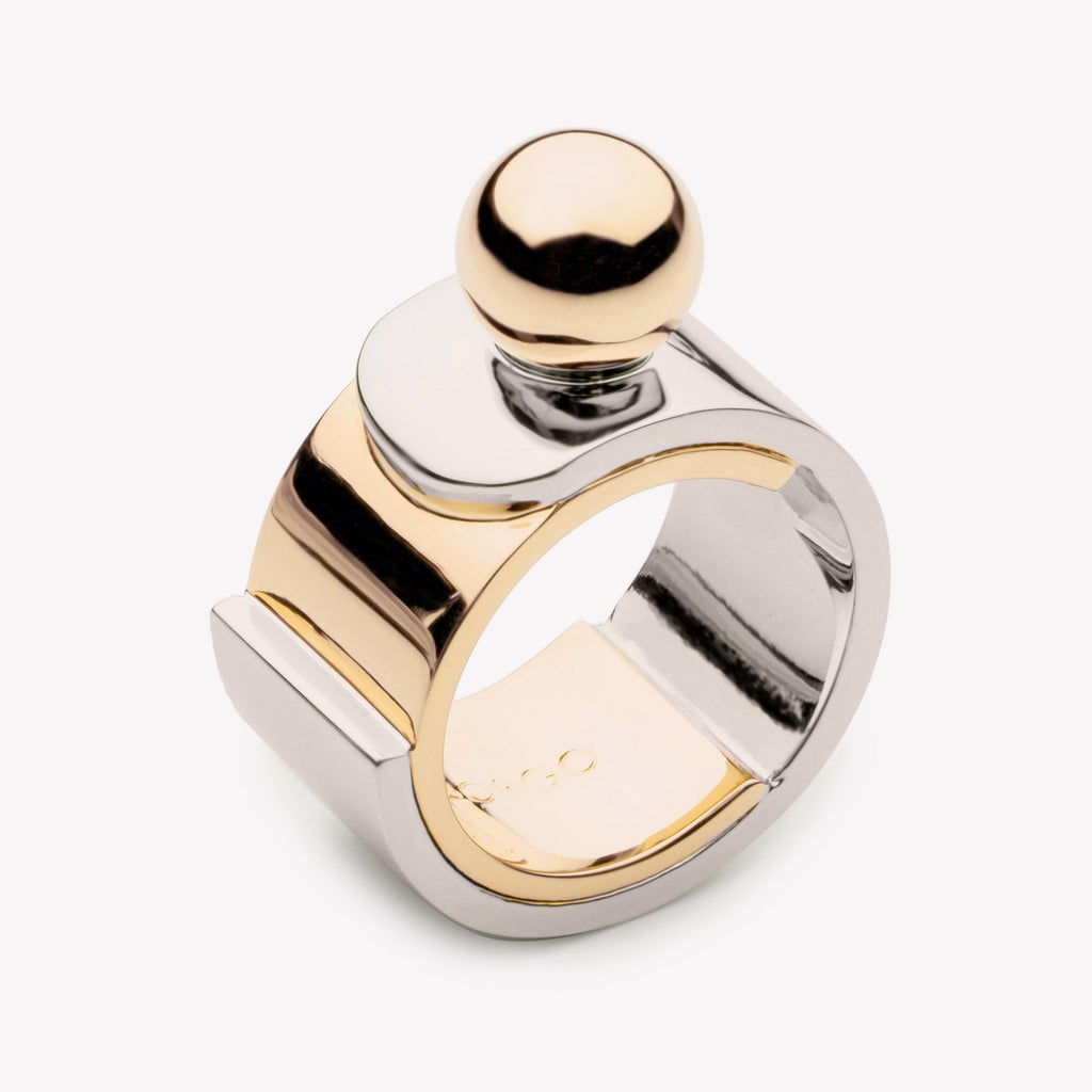 LAYERED PLATE PINKY RING