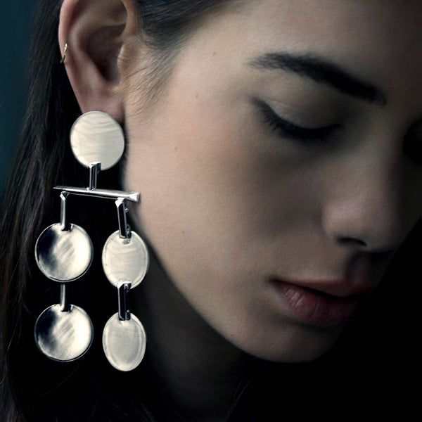 TOKEN CHANDELIER EARRINGS