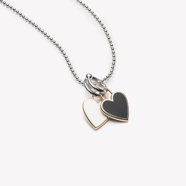 DOUBLE HEART CHARM PENDANT