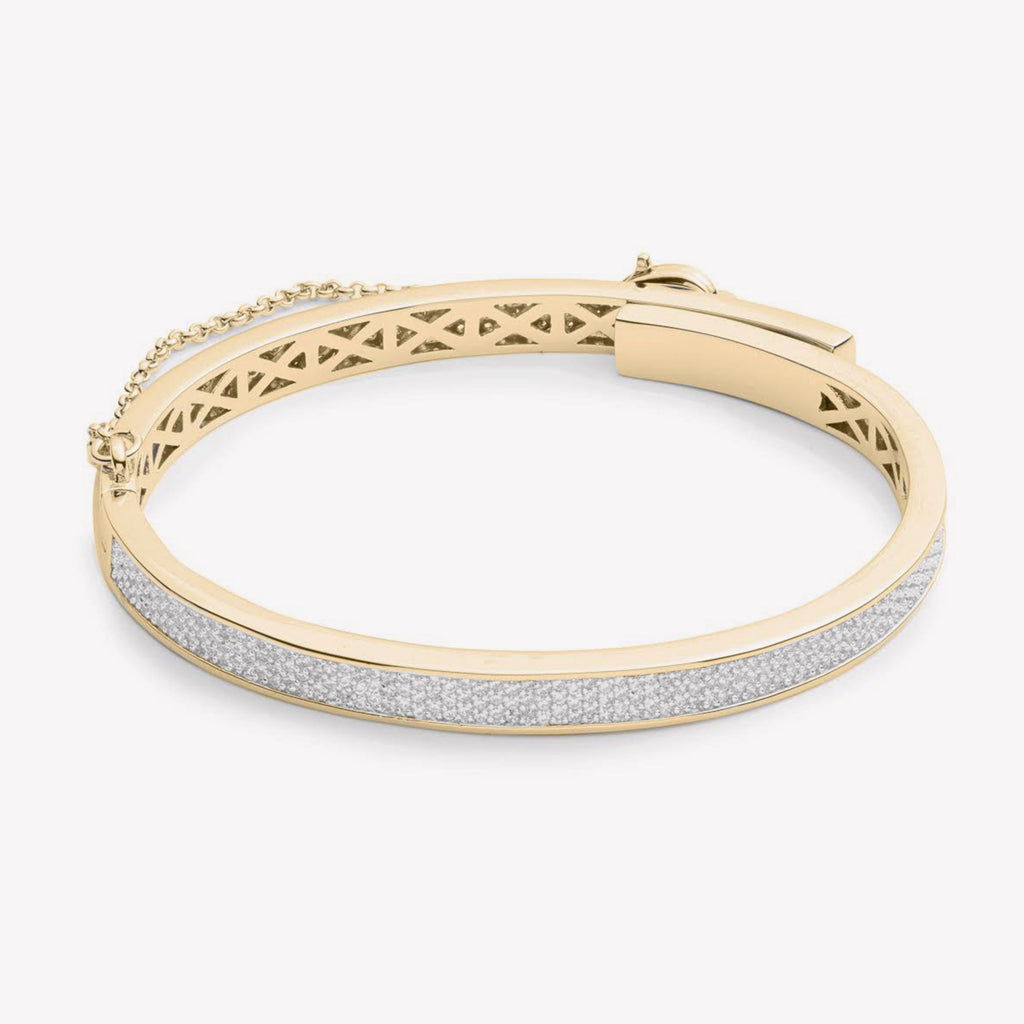 PAVÉ THIN SAFETY CHAIN BRACELET