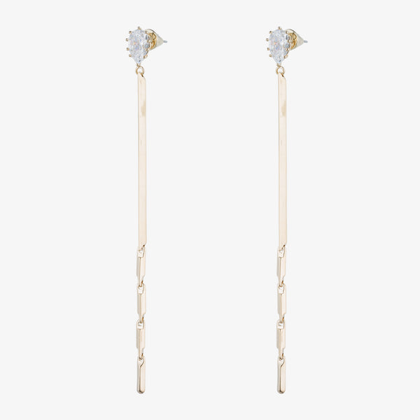 GLINT LINEAR DROP EARRINGS
