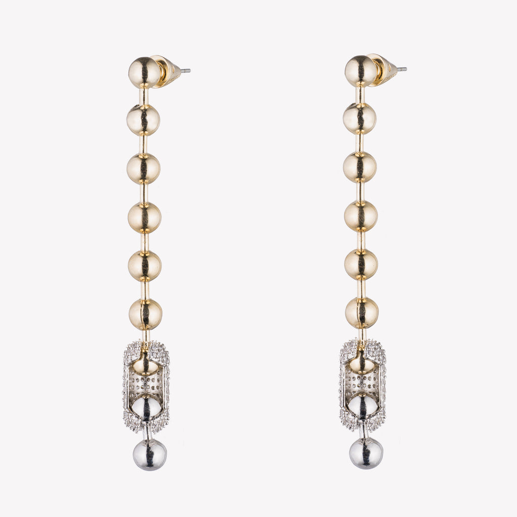 PAVÉ BALL CHAIN EARRINGS