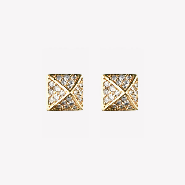 PAVÉ PYRAMID STUD EARRINGS