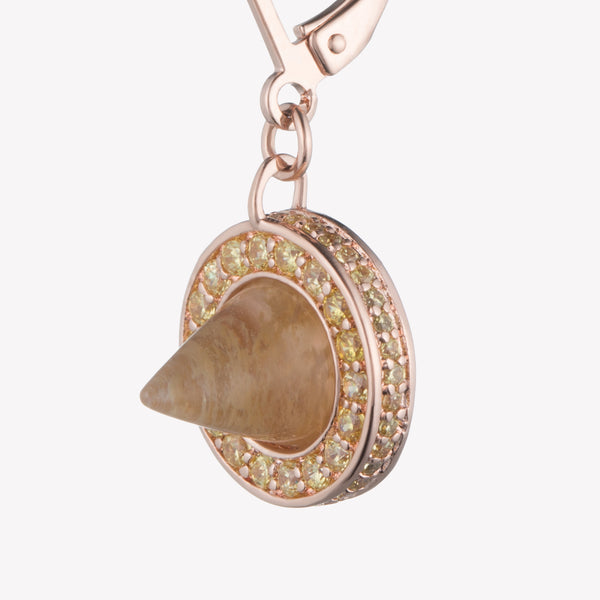 CONE DROP EARRING - RUTILATED QUARTZ