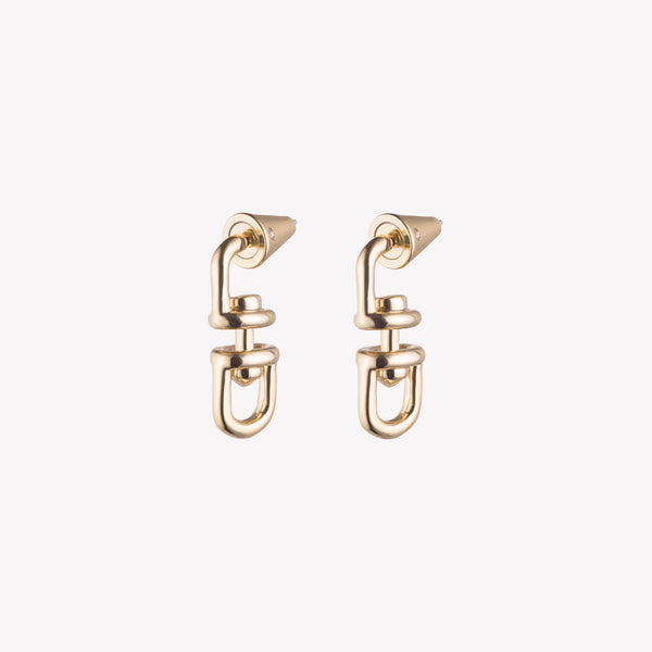 FAME LINK DROP EARRINGS