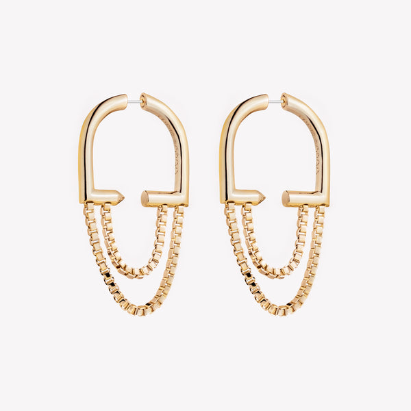 ALLURE CHAIN HOOPS