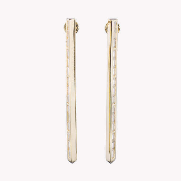 BAGUETTE LINE  EARRINGS