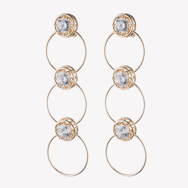 TIERED CIRCLE ESTATE EARRINGS