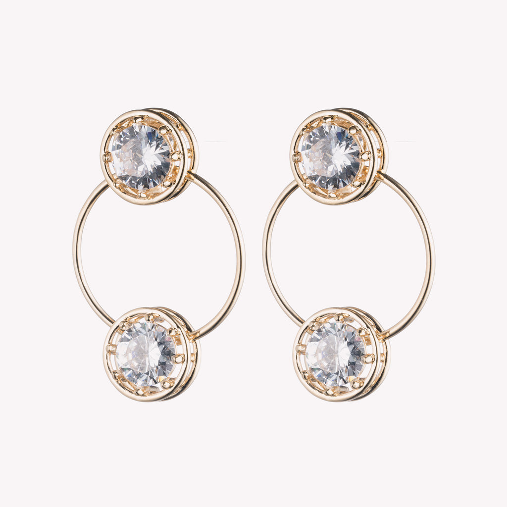 CIRCLE ESTATE HOOP EARRINGS