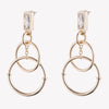 BAGUETTE ELLIPSE EARRINGS