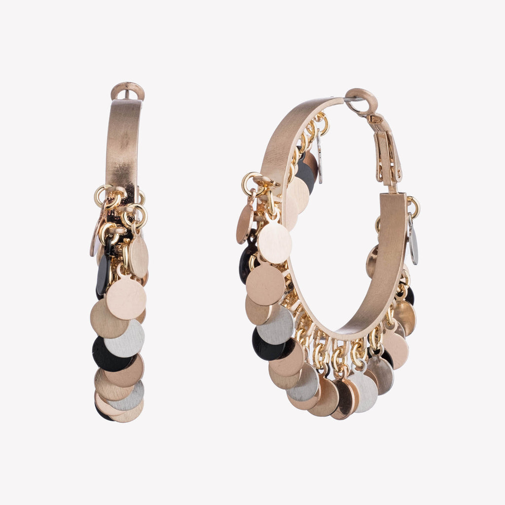 PAILLETTE TAMBOURINE HOOPS
