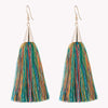 SMALL SILK TASSEL EARRINGS