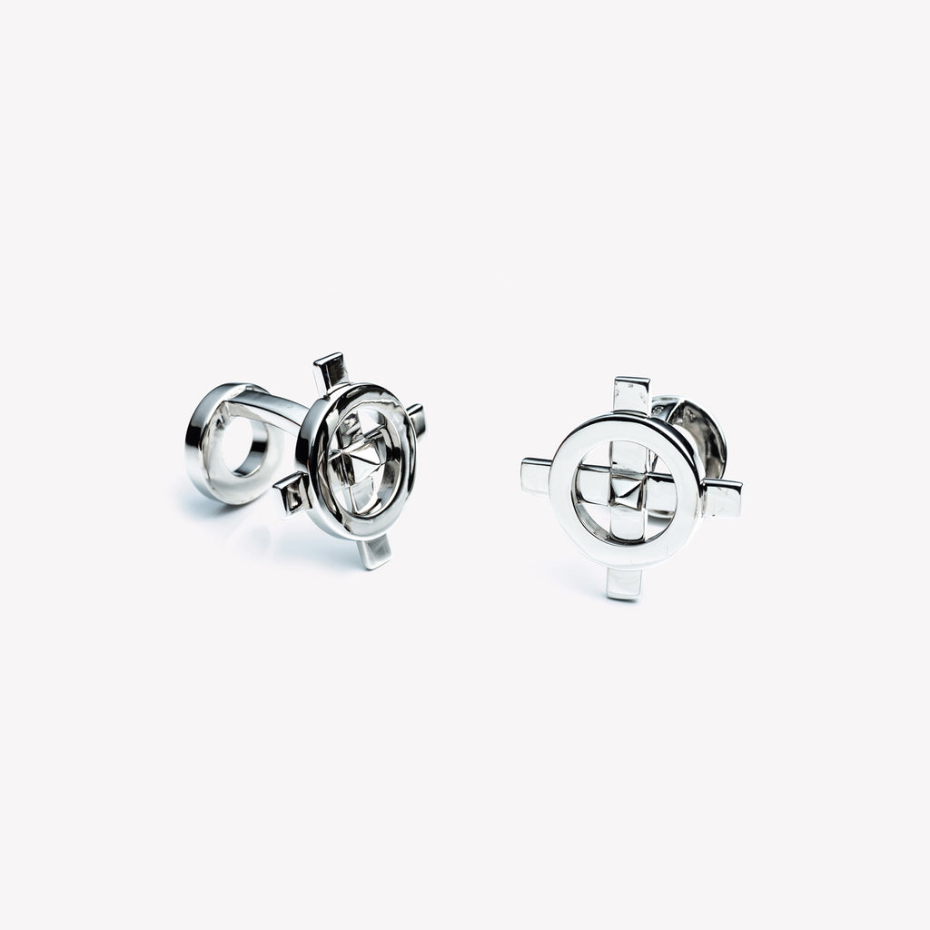 MENS COMPASS CUFFLINKS