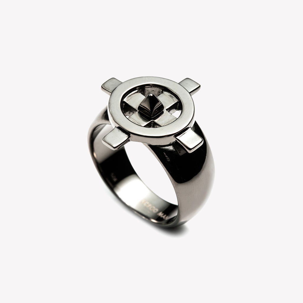 MENS COMPASS RING