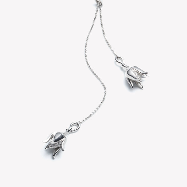 PAVÉ BUD DROP NECKLACE