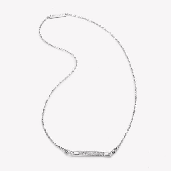 PAVÉ SAFETY CHAIN PENDANT