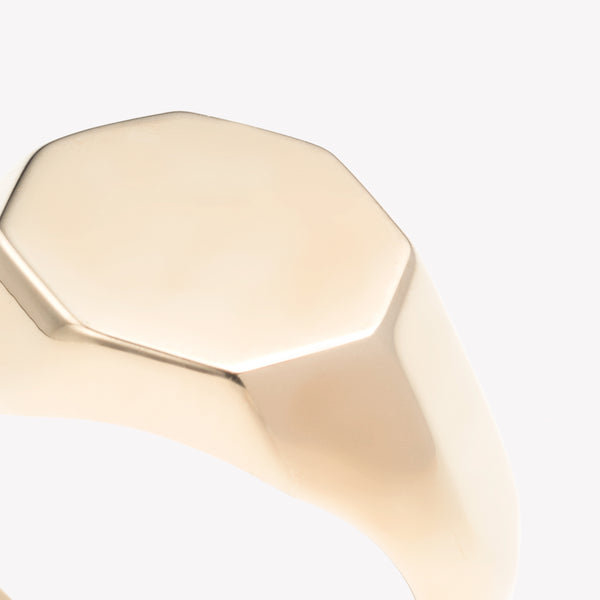 OCTAGON PINKY SIGNET RING