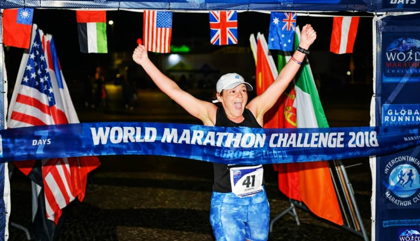 The First American Woman to Finish the World Marathon Challenge
