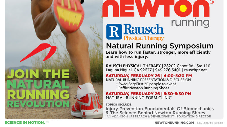 Natural Running Symposium at Rausch Physical Therapy this Saturday