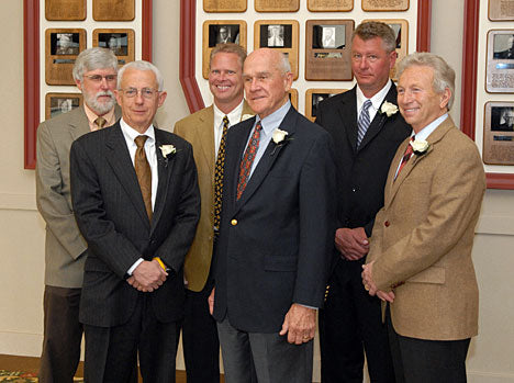 The 2009 Boulder County Business Hall of Fame inductees. Jerry is front left. Photo Lewis Geyer/Times-Call
